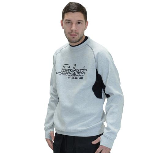 Snickers 28201804 Snickers Long Sleeve Logo Sweatshirt (Grey)