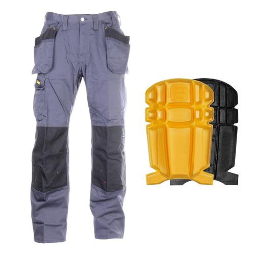 Snickers 3251 5804-PK Core DuraTwill Trousers With Holster Pockets & Knee Pads