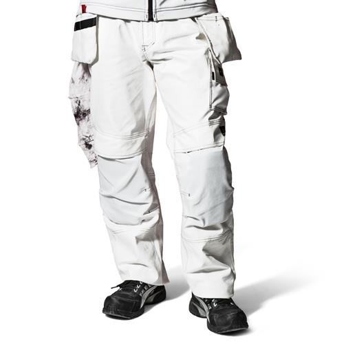 Snickers Painters Trousers With Holster Pockets (White)