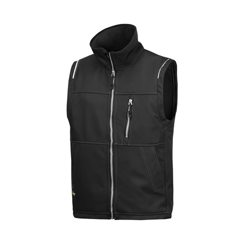 Snickers 45110400 Snickers Profiling Soft Shell Vest (Black)