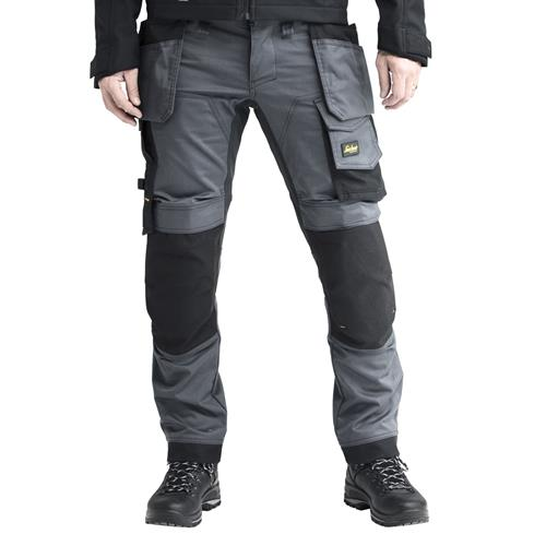 AllroundWork Stretch Trouser with Holster Pockets - Steel Grey