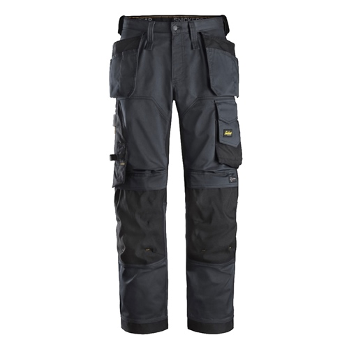 AllroundWork Stretch Loose Fit Trousers with Holster Pockets - Steel Grey