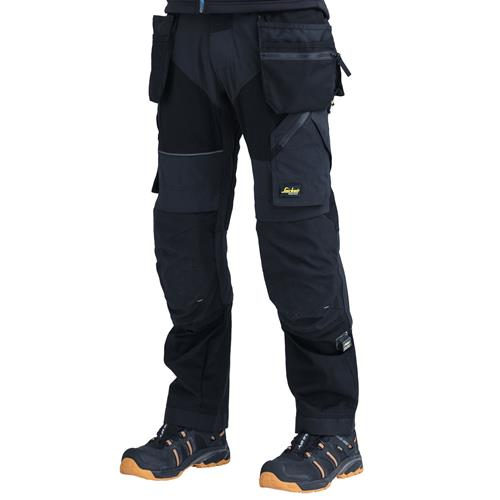 Snickers FlexiWork Trousers with Holster Pockets - Black