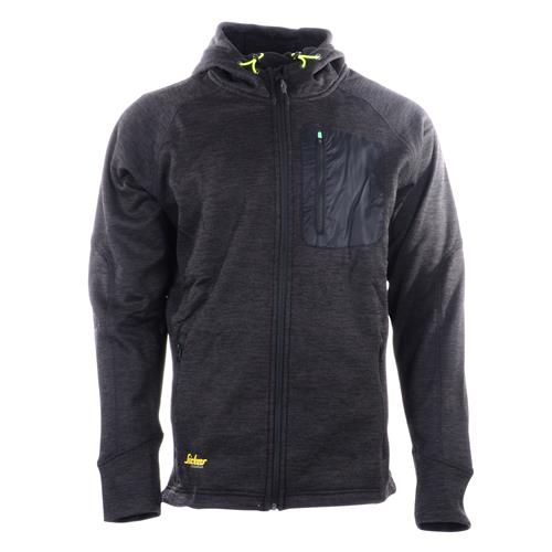 FlexiWork Zipped Fleece Hoodie Black