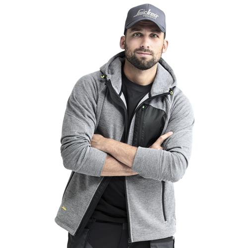 FlexiWork Zipped Fleece Hoodie - Grey