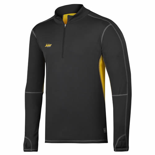 Snickers 84220426 Snickers 37.5 Zipped Long Sleeve T-Shirt (Black)