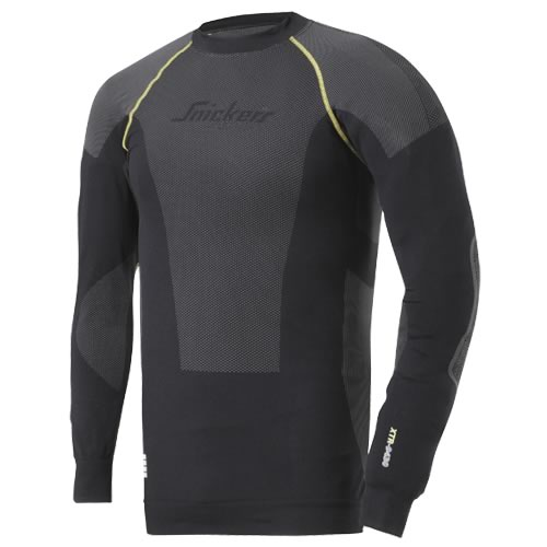 Snickers 94300418 Snickers XTR Body Engineered Long Sleeve T-Shirt (Black)