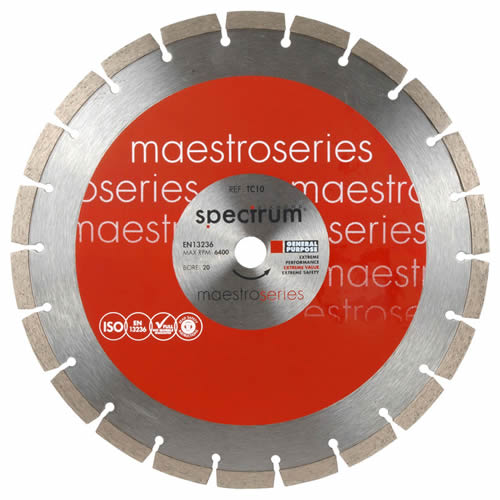 Spectrum TEC10-300/20 Spectrum Maestro TC10 General Purpose Diamond Blade 300mm