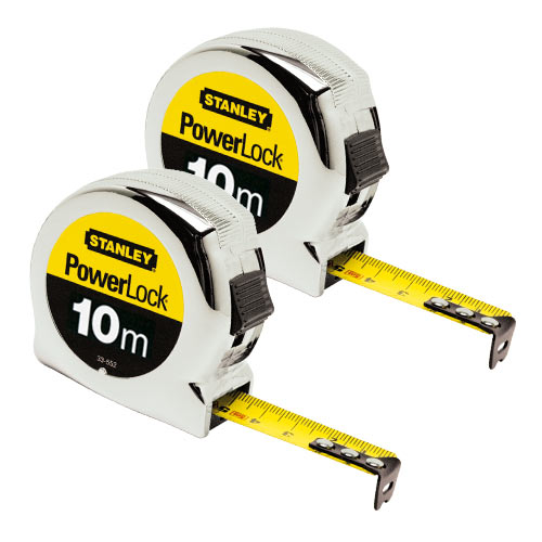 Stanley 033442PK2 Powerlock Tape Measure 10m Metric - Pack of 2