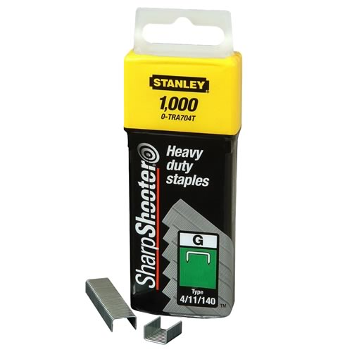 Stanley 0-TRA708T Stanley 12mm 18g Type G Staples - Pack of 1000