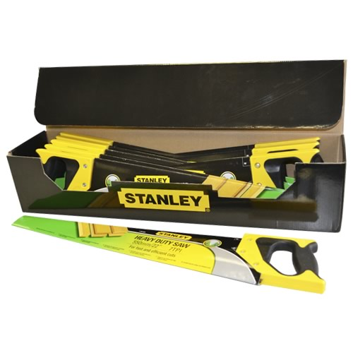 Stanley 120091 Stanley Box of 10 - Heavy Duty Sharpe Cut Hand Saws 22""