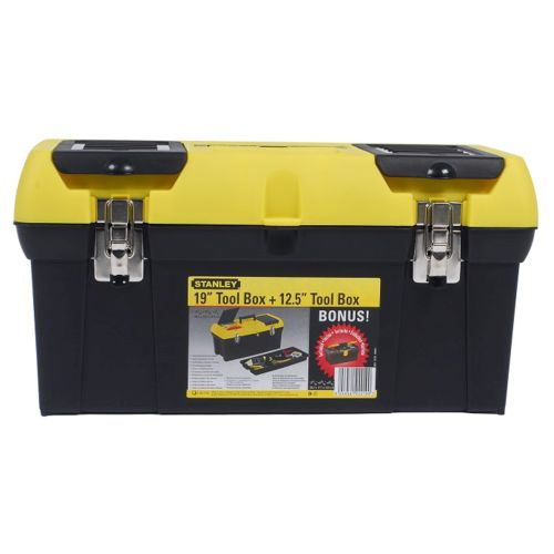 Stanley 1-92-219 19'' Toolbox with Metal Latch + 12.5'' Bonus Box