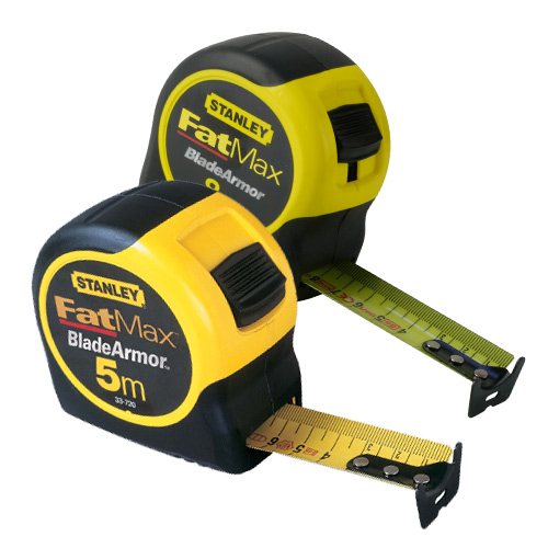 Stanley 0-33-720 0-33-728 Stanley Fatmax 8m and 5m Metric Only Tape Twin Pack