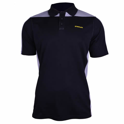 Stanley SXWG158EBK Stanley Cool DRY Polo Shirt - Black/Grey