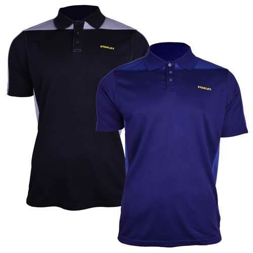 Stanley SXWG158PK Stanley Cool DRY Polo Shirt Pack of Two - Black/Blue