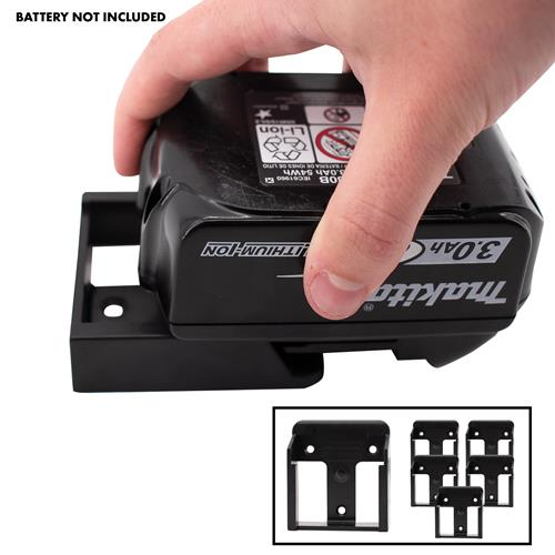 Stealth Mount Makita Battery Holders Suitable for Makita 18V LXT Batteries - Black - Pack of 6