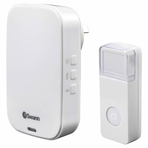 Swann SWHOM-DC822P-UK Compact Wireless Backlit Door Chime c/w 16 Chimes