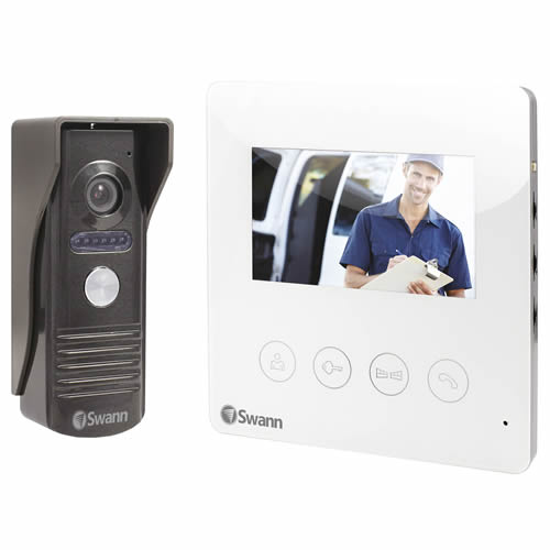 Swann SWHOM-DP875C-UK Colour Intercom With 2-Way Audio Night Vision & Extension Cable