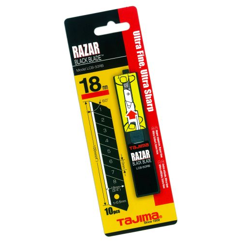 Tajima TALCB50RBC | Razar Black Coated Snap Blades 18mm