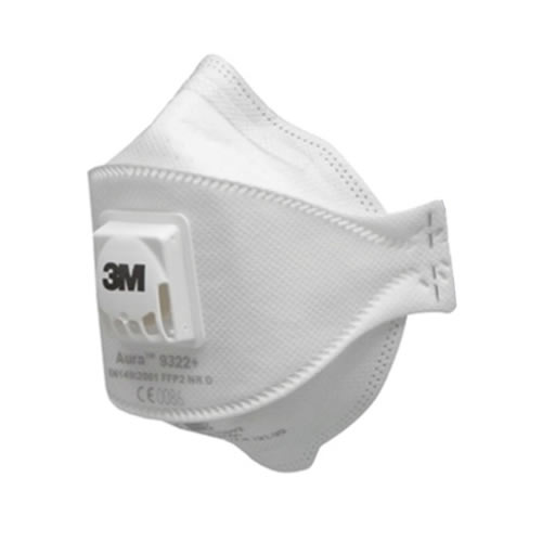 3M 9322 3M Aura 9322+ FF Disposable Valved Dust Mask FFP2 - Pack Of 5