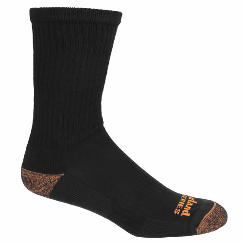 Timberland Pro TPS31774 Timberland Pro Crew Socks (Black/Charcoal) Pack of Two