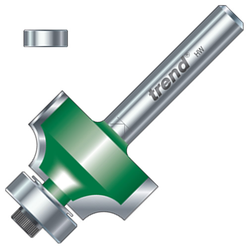 """Trend C078 Trend 9.5mm Ovolo/Roundover Cutter (1/4"""" Shank)"""