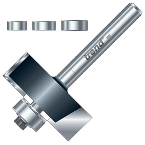 """Trend TR34X1/4TC 12.7mm Trend Guided Rebater (1/4"""" Shank)"""