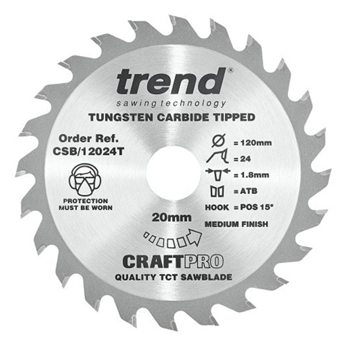 Trend Craft Saw Blade 120mm x 20mm 40T To Suit Mafell KSS40