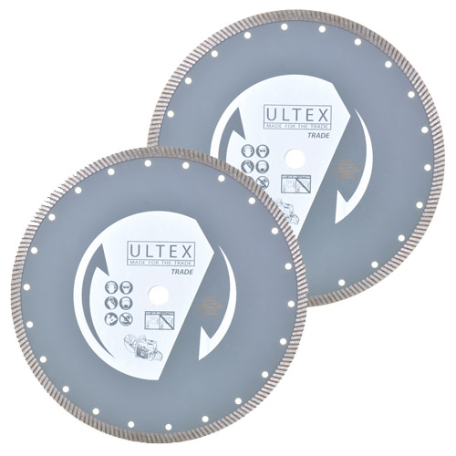 Ultex ULT30202B Ultex 300mm Trade Turbo Diamond Blade Twinpack