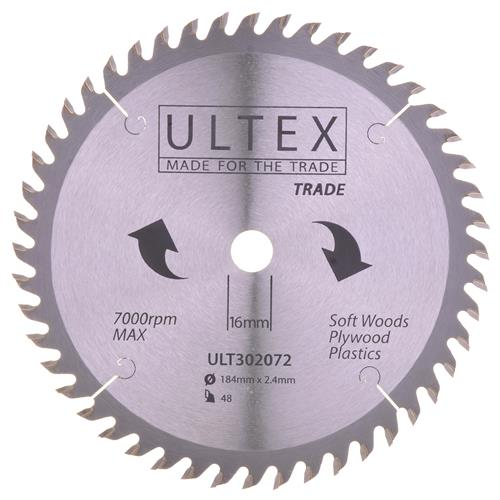 Ultex 302072 Ultex 184mm 48 Tooth TCT Trade Blade