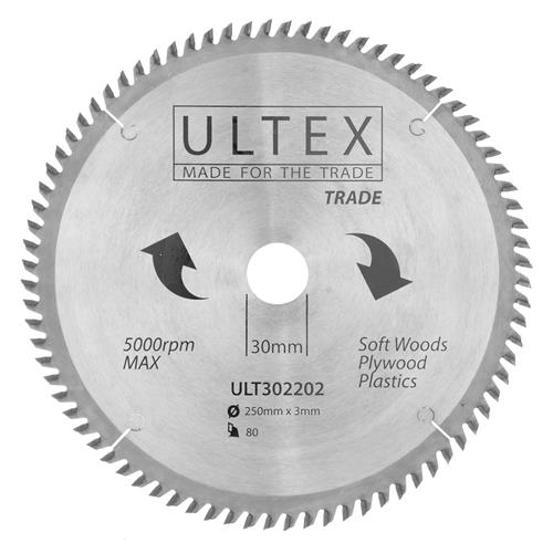 Ultex 302202 Ultex 250mm 80 Tooth TCT Trade Blade
