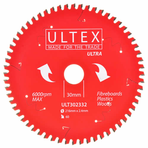 Ultex 302332 Ultex 216mm 60 Tooth TCT Ultra Blade