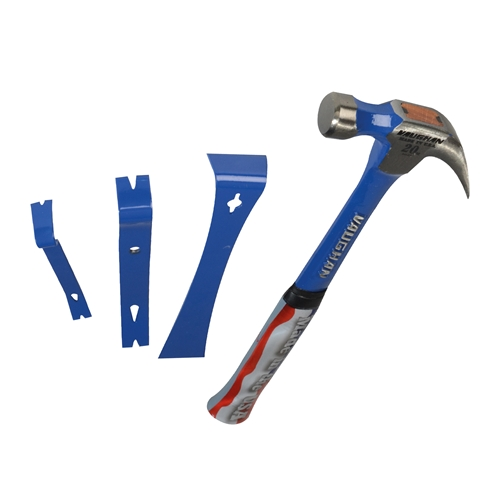 Vaughan HAMBARS 20oz Claw Hammer Steel Eagle with 3 Piece Pry Bar Set