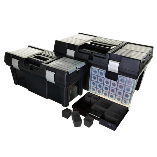 Vaunt 12023 Vaunt 3 Piece Tool Boxes with Organiser Box