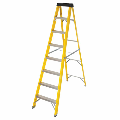 Vaunt 16032 8 Tread Fiberglass 2.23m Step Ladder