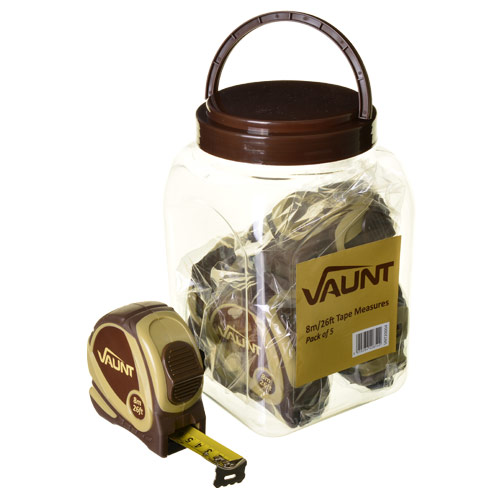 Vaunt 20004 Vaunt 8m/26ft Tape Measure Pack of 5