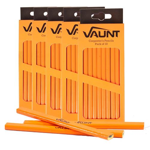 Vaunt 21002 Vaunt Carpenters Pencils x 50 (Medium)