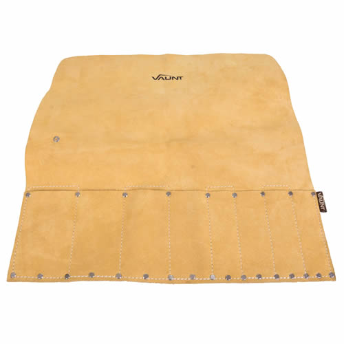 Vaunt 26003 Vaunt Suede Leather 8 Pocket Chisel Roll