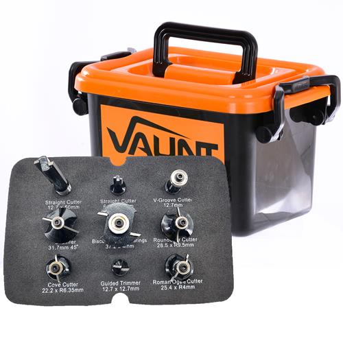 Vaunt 30002 9 Piece Router Cutter 1/2'' Shank Trade Pack