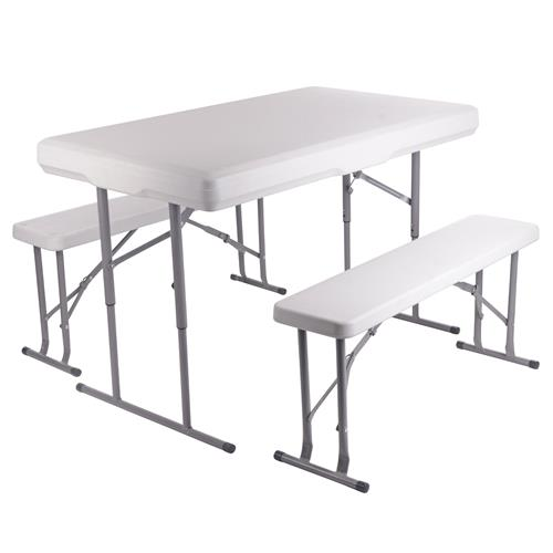 Vaunt 30075 Vaunt Portable Table and 2 Bench Set