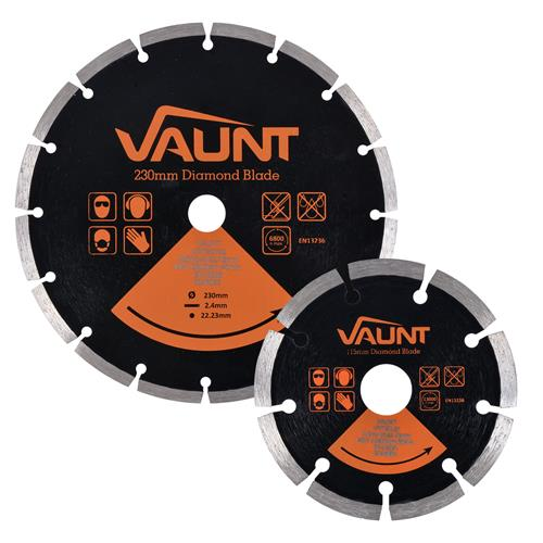 Vaunt 30120 Vaunt Diamond Blade General Purpose Twin Pack 230mm & 115mm