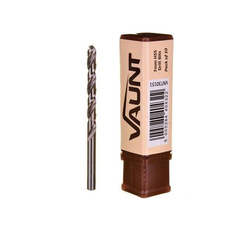 Vaunt 30151 7mm HSS Drill Bits - Pack of 10