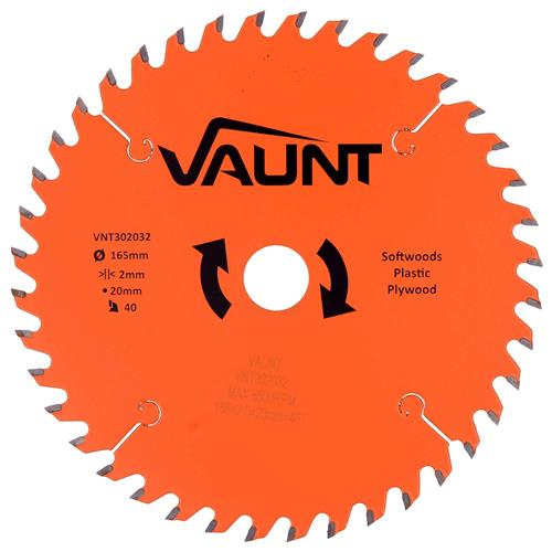 Vaunt 302032 165mm 40 Tooth TCT Trade Blade