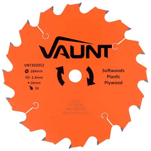 Vaunt 302052 184mm 16 Tooth TCT Blade