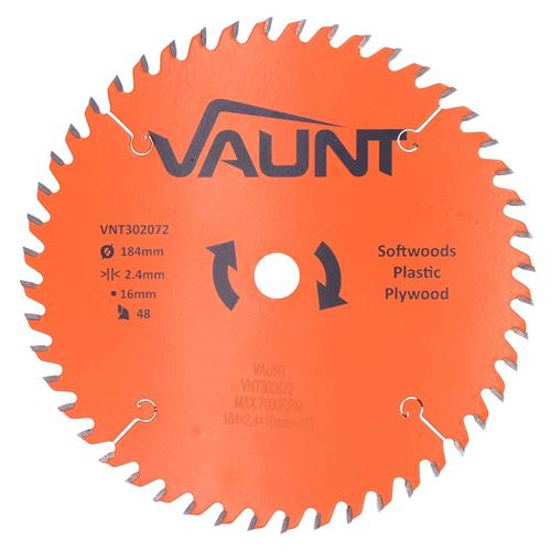 Vaunt 302072 184mm 48 Tooth TCT Trade Blade