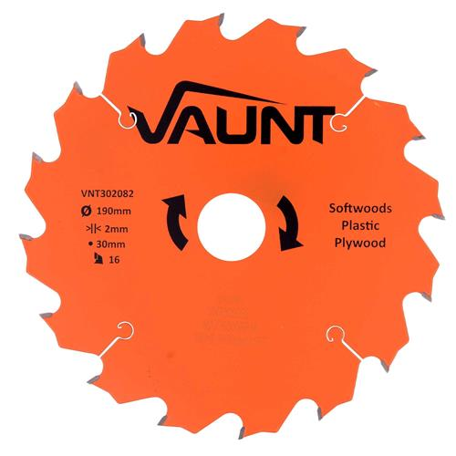 Vaunt 302082 190mm 16 Tooth TCT Trade Blade