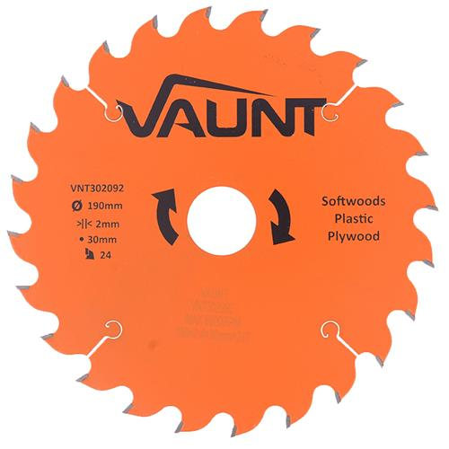 Vaunt 302092 190mm 24 Tooth TCT Trade Blade