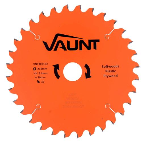 Vaunt 302132 216mm 32 Tooth TCT Blade