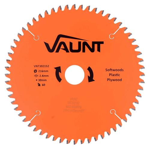 Vaunt 302152 216mm 60 Tooth TCT Trade Blade