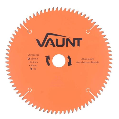 Vaunt 302212 250mm 80 Tooth TCT Blade (Aluminium Cutting)